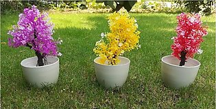Artificial Plants Potted Bonsai Small Tree Plants Flowers Potted for Home Garde…
