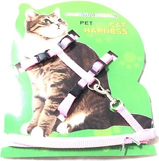 Cat Harness with leash ( Pink )