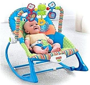 Fisher Price Baby Bouncer With Musical Vibrating- Multicolor