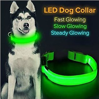 Led dog collar Anti-Loss / prevent car accidents Dog collar puppies dog collars…