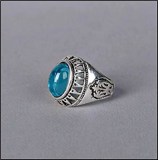 The Gemstone Gallery Blue Stone Egypytian Vintage Ring with Gift Box
