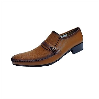 Formal Shoes for Men,Dress Shoes,Brown Slip-on Genuine product ,Office shoes,Ne…