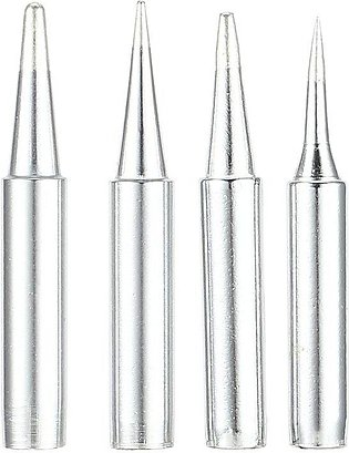 4PCS 900M Cooper Soldering Iron Tip Replacement Rework Station Tool Lead-free -…