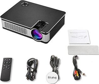 A6000pro Portable Mini LED Projector with USB VGA HDMI AV Multimedia