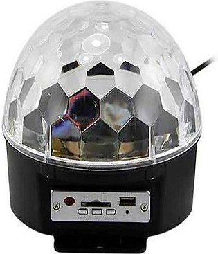 RGB Crystal Magic Rotating Ball LED Stage Light