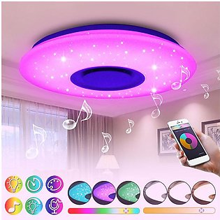 【To Global】24W RGB LED Smart Dimmable Bluetooth Speaker Music Ceiling Light Dow…