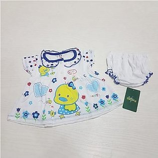 Fashionable 2 Piece Frock For Baby Girl