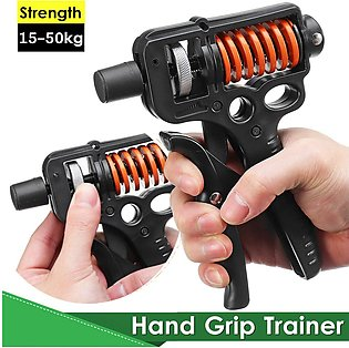 15-50kg Adjustable Hand Grip Arm Strength Trainer Sport Fitness Muscle Exerciser