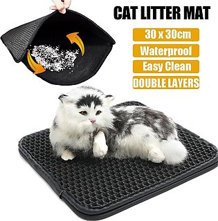 Double-Layer EVA Waterproof Cat Litter Box Mat Trapper Pet Pad Foam Rubber Rug