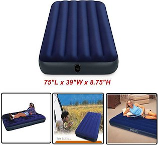 Inflatable Air Mattress Twin Size Intex Classic Downy Air Bed Sleeper