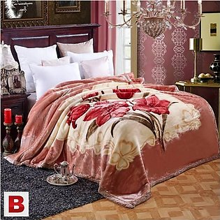 Double Bed Fleece Blanket (Multicolor) Single layer High Quality