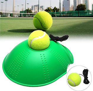 Single Tennis Rebound Trainer Self-study Training Ball Baseboard Holder Aid