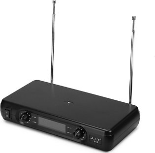 lcd wireless microphone system black