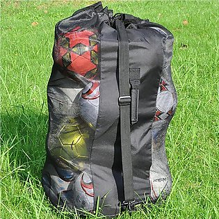Shoulder Bag Sports Extra Large Soccer Outdoor Volleyball Net Mesh Drawstring S…