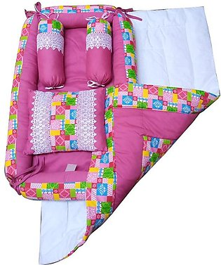5pcs Newborn Baby Bed Pure Cotton Infant Bedding Set Infant Baby Sleeping Bag -…