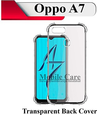 OPPO A7 Back Cover Transparent Extra Bumper Soft Crystal Clear Case For A7