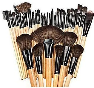Professional Makeup Brush Kit + Pouch