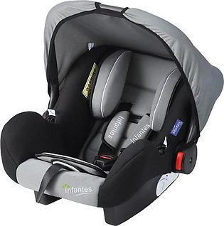 Infantes Carry Cot & Car Seat 0-18 Months Grey And Black (BNCC-24)