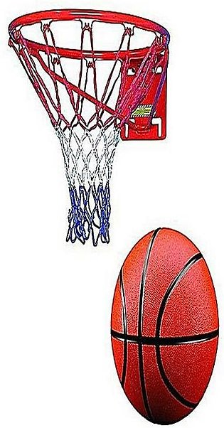 Basketball Net With Steel Ring - Multicolor