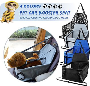 Folding Waterproof Puppy Pet Cats Dog Car Travel Booster Seat Carrier Protector…