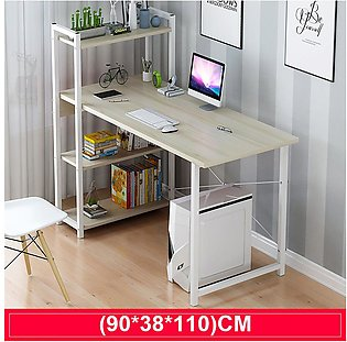 Computer Desk with Shelves Modern Style Computer Table Variety of Display Offic…