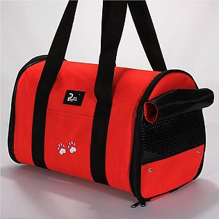 Portable Pet Dog Cat Puppy Travel Carrier Case Cage Tent Kennel Bag Crate Red