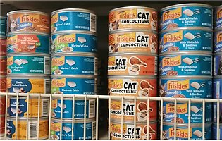24 X 156 Grams PIECES OF Friskies Cat Food With DIFFERENT FLAVOURS