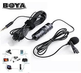 Microphone Lavalier BoYa BY-M1 MM1 Condenser 3.5mm Audio Video Record Microphon…