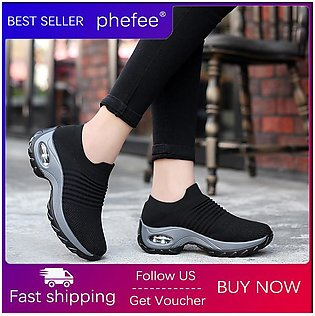 【ALLGOOD】Women Causal Shoes Lady Outdoor Sport Shoes  New Sneaker No Shoelaces …