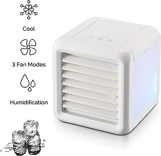 HHH-Cool Mini Cube Air Cooler 3-in-1 Portable Air Conditioner Purifier Humidifi…