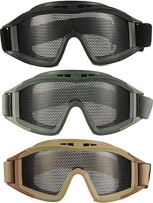 UV Protection Safety Goggles Spectacles Metal Mesh Airsoft Protection Goggles