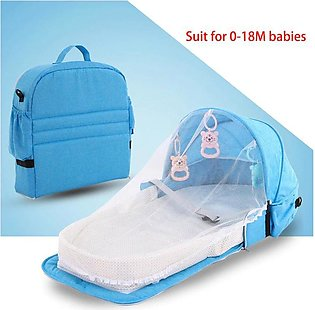 Baby Crib Bed Portable Folding Baby Bed Nest Cot For Travel Foldable Bed Bag Wi…