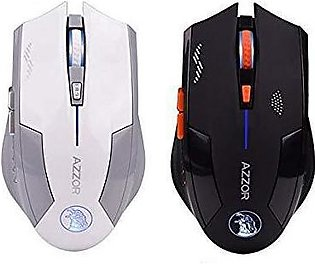 Gaming  Mouse Azzor 2.4G Wireless Laser Rechargeable Battery Built-in 6 Botton …