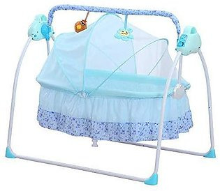 Baby Cradle Electric Swing - Blue