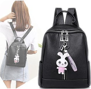 Pu Leather Backpack Women Student Pure Color Girl Backpack Luxury Handbags Wome…