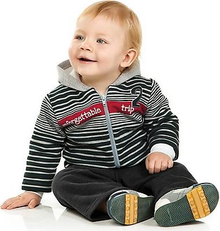 Summer New Children'S Wear Boy Striped Zipper Small Jacket + Soft Pants-2-Piece…