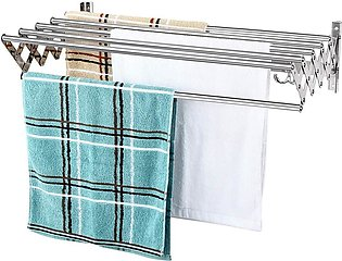 Drying Rack Wall Mounted Cloth Hanger - Silver