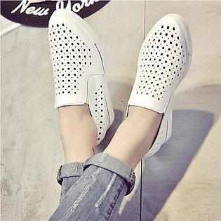 Breathable Hidden Wedge Heel Pull On Women Slip-on Loafers Sneakers Casual Shoes