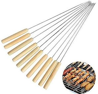 BBQ Skewers Sticks with Wood Handle