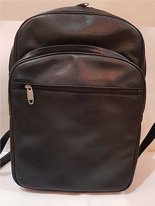 Leather Backpack for Men - Black - Premium Cow Leather