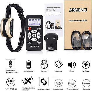 Dog Training Collar with Remote - Rechargeable Rainproof E-Collar, 3 Modes