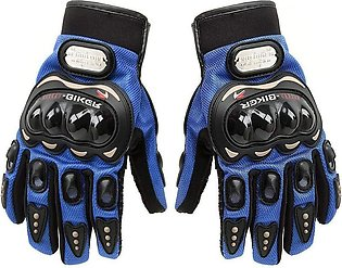 Pro-Biker Bicycle Short Sports Leather Motorcycle Powersports Racing Gloves (Bl…