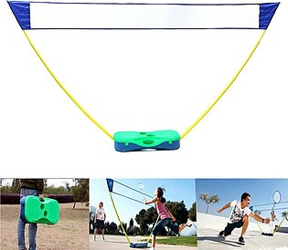 3in1 Outdoor Portable Badminton Set Tennis Volleyball Net with Stand Battledore