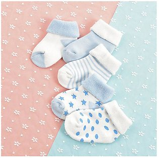 6 Pairs/12 Pcs Cotton Mesh Baby Breathable Socks - Casual Newborn Baby Socks - …