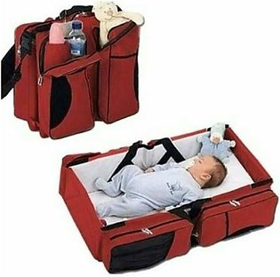 Baby Bassinet Portable Travel Crib Diaper Bag Changing Station With Mat Foldabl…