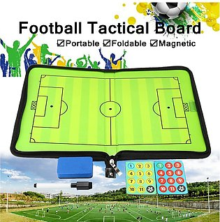 Portable Leather Magnetic Foldable Football Board Training Coaching Kit
