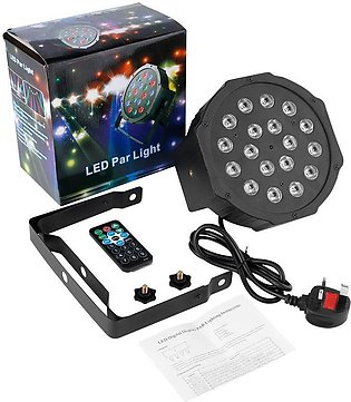 OUTAD 18LED Par Lights Stage Light with RGB Magic Effect by Remote Control - Re…