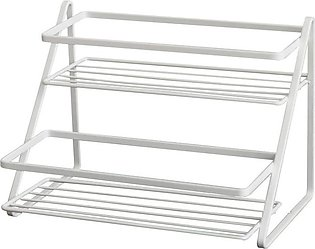 2 Tier Countertop Spice Rack Step Shelf for Kitchen Pantry Bathroom Cabinet Org…
