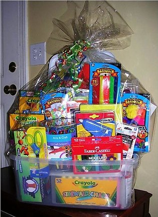 Gift Basket For school stationary items