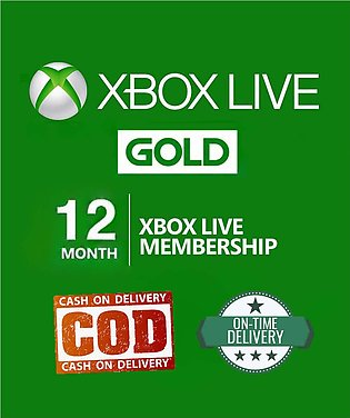 Xbox Live Gold 12 Month For Xbox One And Xbox 360